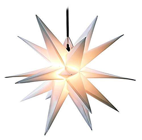 Luces de la estrella de la iluminación, 55 cm luminosas de las estrellas, luces de las estrellas de los extranjeros, luces de decoración navideña, no requiere transformador.
