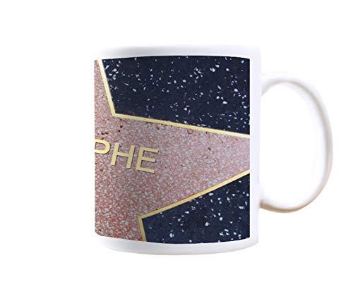 Mug personnalisable avec un prénom - Etoile de Star, Walk of Fame - Tasse en céramique, 25 cl - Cadeau original, cadeau d'anniversaire, cadeau souvenir