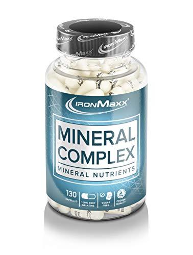 Ironmaxx Mineralkomplex – Hochdosierte Multimineralkapseln mit wichtigen Mineralstoffen und Spurenelementen – 1 x 130 Kapseln