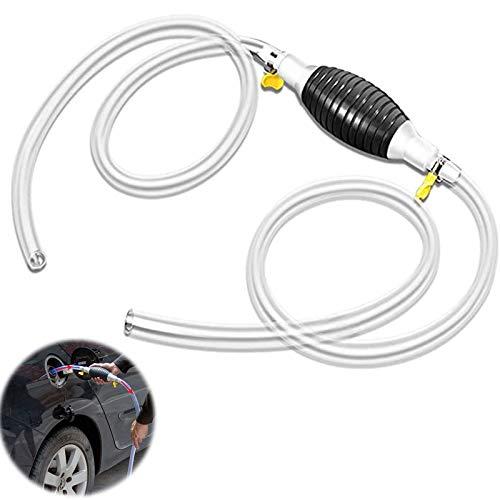 Benzin Kraftstoffförderpumpe Handpumpe Auto Kraftstoffförderpumpe Tragbar Deflektor für Kraftstoffe Notpumpe UmfÜllpumpe für Boot Auto Fahrzeug Diesel Benzin Öl Wasser 2m Schlauch