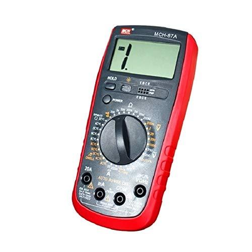 cjcaijun Multímetro Auto Electrician Maintenance Multimeter Handheld Digital High Precision Multímetro portátil Tester Pen Fuente de alimentación DC