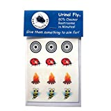 Urinal Fly Toilet Stickers, 12 Pack, Bee Fire Ladybug Target, 80% Cleaner Bathrooms in Minutes!