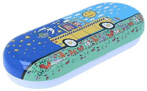 Bonita funda para gafas 'Taxi' con divertido diseño de cómics para muchos utensilios.