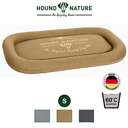 Hound & Nature Öko Hundekissen Arosa, eckig kuschelig und waschbar für kleine Hunde in S, beige, 72 x 44 x 7 cm