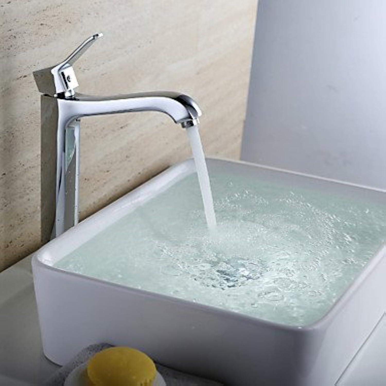 Y&M Faucet£? Contemporary chrome-plated copper single hole single handle bathroom sink faucet