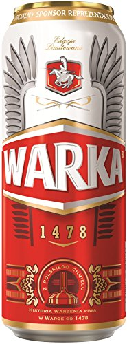 24 Dosen Warka Jasna a 500ml 5,5% aus Polen inc. 6.00€ EINWEG Pfand