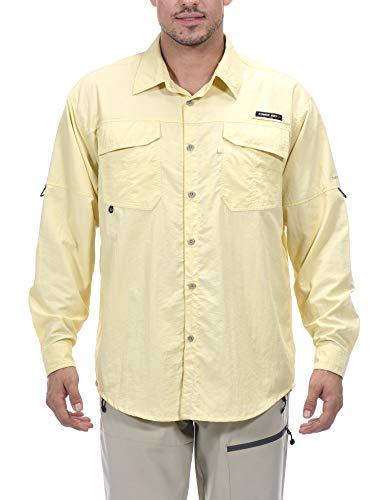 Little Donkey Andy Camisa de pesca de manga larga UPF 50+, transpirable y de secado rápido para hombre, XL, X-caqui