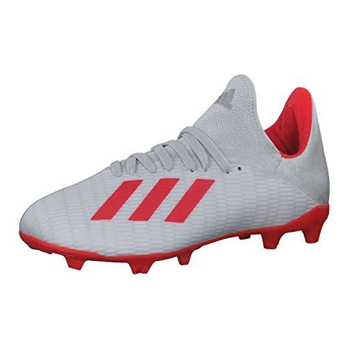 adidas Baby Jungen X 19.3 Fg J Fußballschuhe, Silber (Silver Met./Hi/Res Red S18/Ftwr White Silver Met./Hi/Res Red S18/Ftwr White), 31.5 EU