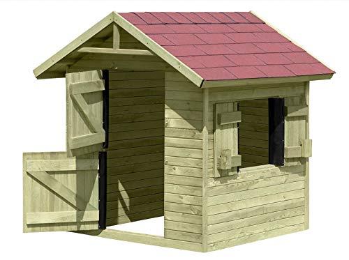 Spielhaus Emily aus Holz Gartenhaus für Kinder TÜV