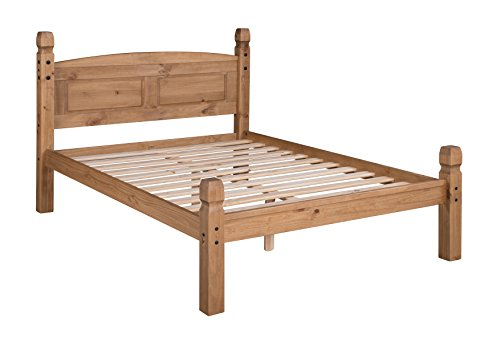 Mercers Furniture Corona 4'0' Small Double Low Foot End Bed Frame, pine, Antique Wax
