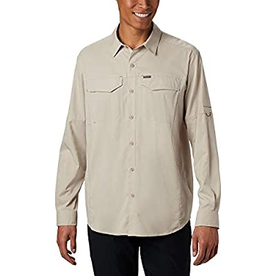 Columbia Men's Silver Ridge Lite Long Sleeve Shirt, Fossil, Large