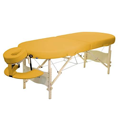 Mobile Massageliege Clap Tzu KAHUNA SET, 195x75 cm, siena