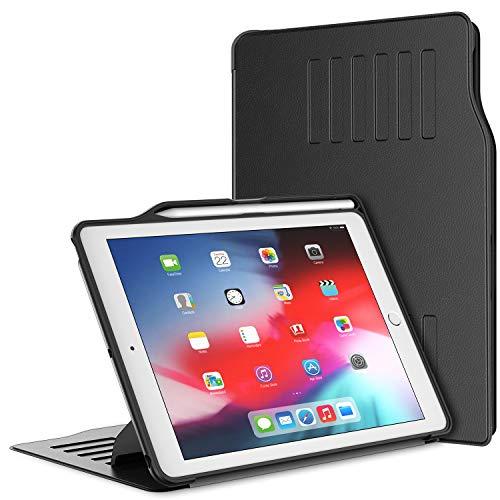 JETech Funda Compatible iPad (9,7 Pulgadas, 6ª / 5ª generación, 2018/2017 Modelo) con Soporte Pencil, Altamente Protector, Absorción de Impactos, Múltiples ángulos, Negro