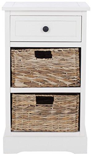 Safavieh Beistelltisch, Holz, strapaziertes Creme, 40 x 33 x 70.10 cm