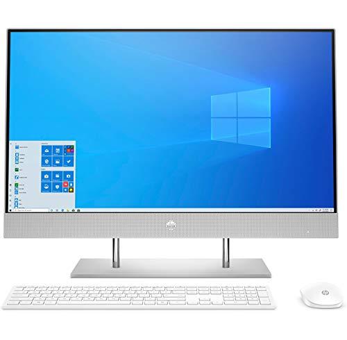 """HP 27-dp0003ns - Ordenador de sobremesa todo en uno de 27"""" FHD (AMD Ryzen 5 3500U, 8 GB RAM, 512 GB SSD, AMD Radeon Vega 8, sin sitema operativo) plata natural - Teclado QWERTY Español"""