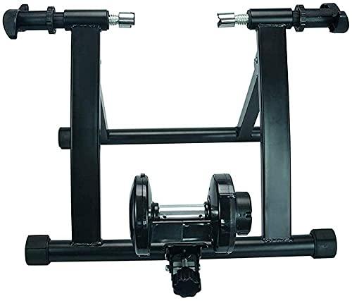 YZX Plataforma Entrenamiento Bicicletas, Soporte de Plataforma de Entrenamiento con Rodillo de renuencia inalámbrico para Bicicleta de montaña/Carretera de Interior para el hogar