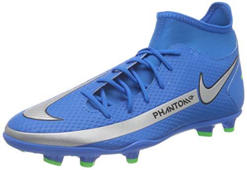 Nike Herren Phantom GT Club Dynamic Fit MG Soccer Shoe, Photo Blue/Metallic Silver-Rage Green-Black, 44.5 EU