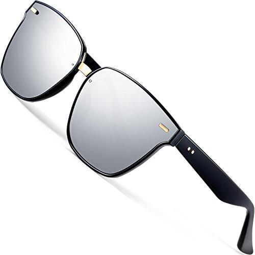 ATTCL Clásico Gafas De Sol Hombre mujer Polarizadas Protección UV 555-silver