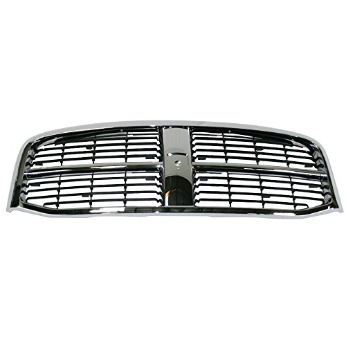Perfit Liner New Front Chrome Black Grille Grill Replacement For 06-09 Dodge Ram Pickup Truck 2500 3500 Fits CH1200282 55077767AC