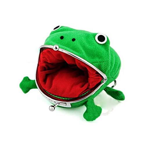 TOPofly Rana Verde Lindo Bolso de la Moneda de Cosplay Puntales de Juguete de Felpa del Monedero de Naruto para Amantes y Cosplay
