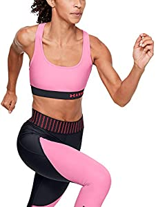 Under Armour Mid Crossback Sport-BH Damen-Pink, Schwarz Ropa Interior, Rosa, XS para Mujer