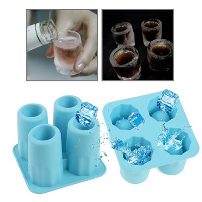 Eis Shotglas Formen Silikon Schnapsglas aus Eis Stamperl Gläser Schnapsstamperl Eisstamperl Eisglas Titelbild