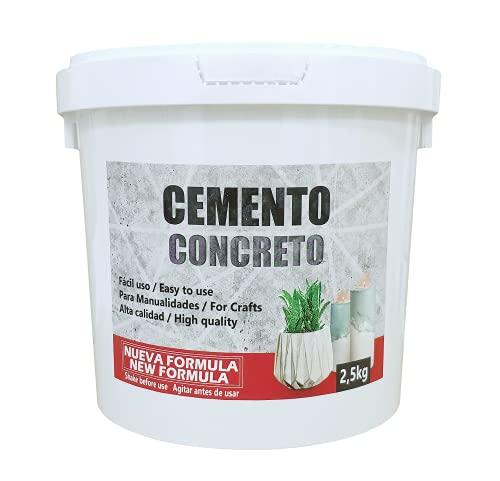 Cemento para Manualidades, Cemento Rápido para Manualidades Adultos, Podrás Hacer Velas, Escultura De Manos De Cemento En 3D, Maceta De Cemento, Proyectos Artesanales, Manos Cemento, Cubo 2,5 kg