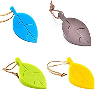 Rubber Leaf Door Stopper Set - Pack Of 4 Leaf Shape Super Cute Door Wedge Protect Your Family From Hurting By The Closing ...