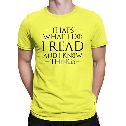 Dat is wat ik lees en ik weet dingen casual grappig T-Shirt mannen Tees Tops