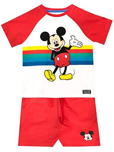 Disney Maglietta e Pantaloncini per Ragazzi Mickey Mouse Multicolore 3-4 Anni