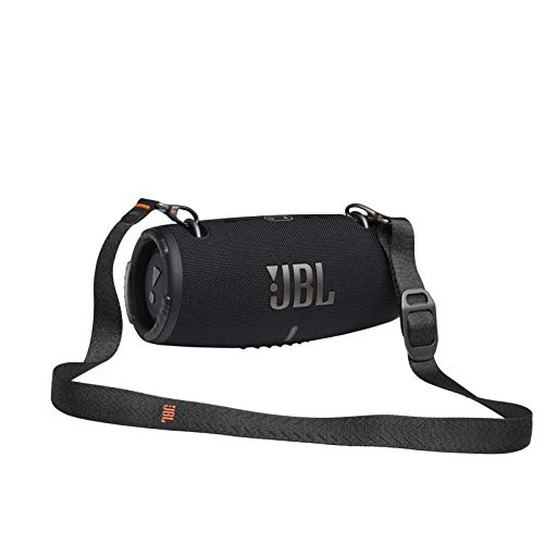 JBL Xtreme 3 Musikbox in Schwarz – Wasserdichter, portabler Stereo Bluetooth Speaker mit integrierter Powerbank – Mit nur einer Akku-Ladung bis zu 15 Stunden Musikgenuss