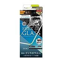 Simplism iPhone XR [FLEX対応 3D] Gorillaガラス ブルーライト低減 複合フレーム ホワイト