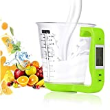 iMeshbean Digital Kitchen Scale Diet Food Compact Kitchen Scale for Baking Cooking (Measuring Cup Scale-Green)