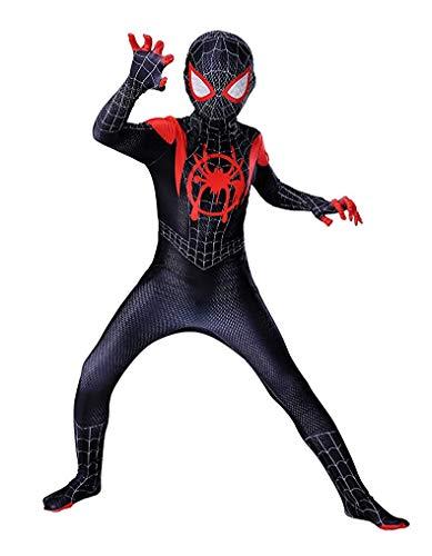 DAELI Spider Bodysuit for Children (KIDS-6T, Black)