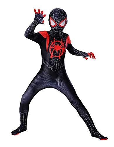 DAELI Spider Bodysuit for Children (KIDS-6T, Black)