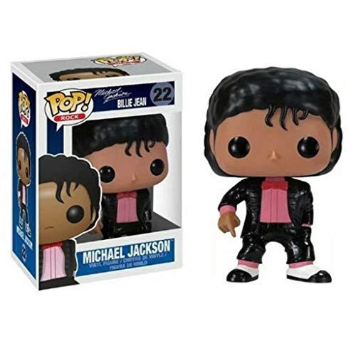CJH Michael Jackson in een zwarte jas: Pop!Figuur van PVC. Populaire en mooie cartoon-tekeningen met prachtige verpakkingen. De beste collectie van Michael Jackson fanmaat: 10 cm.