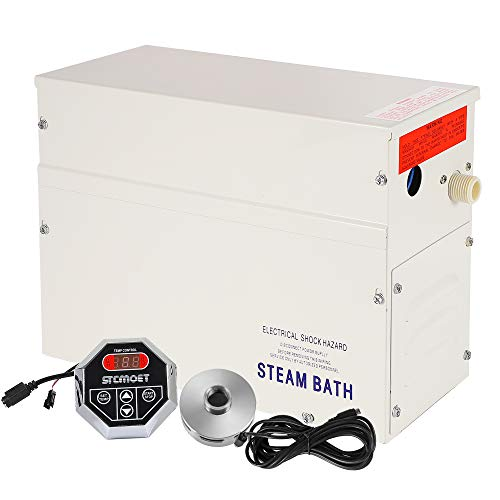 CGOLDENWALL 3KW Generador de Vapor para Sauna con 35-55℃ Termostato Automático, Temporizador 1-12h, Comecial/Doméstico, para Ducha/auna/Baño Turco/SPA, Apto para Calentar Espacio 3m³
