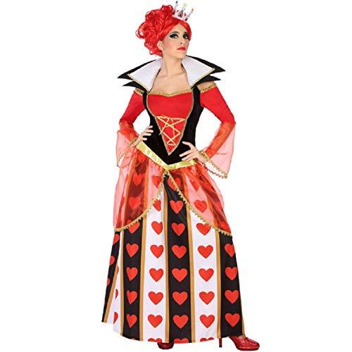 ATOSA disfraz reina corazones mujer adulto rojo M