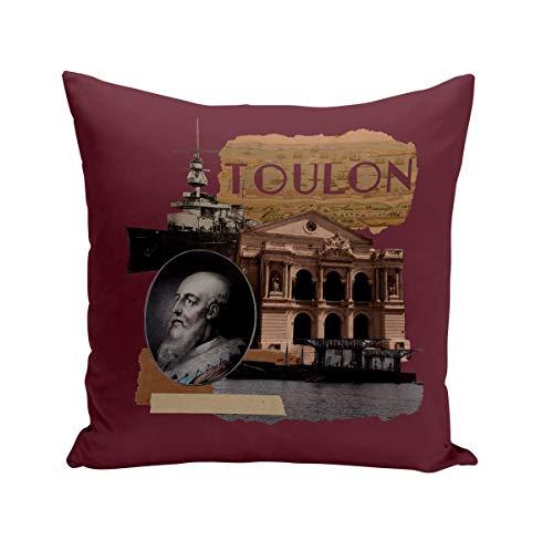 Fabulous Coussin 40x40 cm Toulon Collage Ville France Soleil Plage