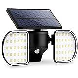 Luce Solare LED Esterno OUSFOT IP65 Faro Led Esterno con Pannello Solare Faretto Led da Es...