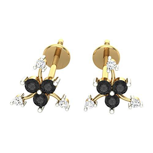 Pendientes de diamantes blancos y negros con certificación IGLI, IGLI, DGL de 0,20 quilates (IJ-Color, claridad I1-I2) de Dishis Designer Jewelry