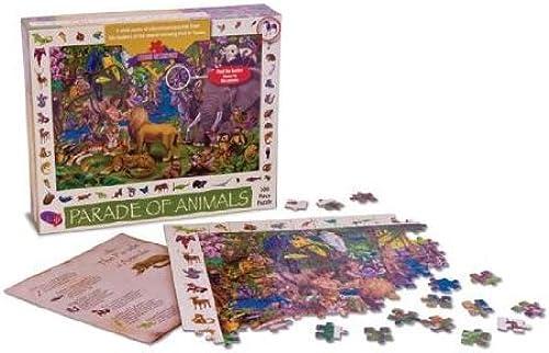 todos los bienes son especiales Parade of Animals Pieces of History 300 Piece Puzzle Puzzle Puzzle By Find It Games by Find it Games  protección post-venta