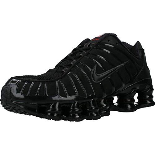 Nike Shox TL, Scarpe da Corsa Uomo, Black/Black-Mtlc Hematite-Max Orange, 42.5 EU