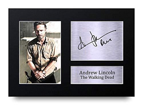HWC Trading Andrew Lincoln A4 Ungerahmt Signiert Gedruckt Autogramme Bild Druck-Fotoanzeige Geschenk Für The Walking Dead Tv-Show-Fans