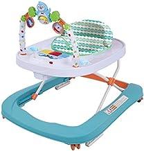 andadores bebes primeros pasos Andador redondo multifuncional Baby Go, andador plegable de música para niños pequeños de First Steps con bandeja de alimentación EN1273:2005