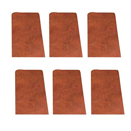 STOBOK 20 unids Vintage Papel Kraft Sobres Engrosados ??Estampados de Impresión Bolsa de Papel Correo Aéreo Sobres de Regalo para Invitaciones Tarjeta