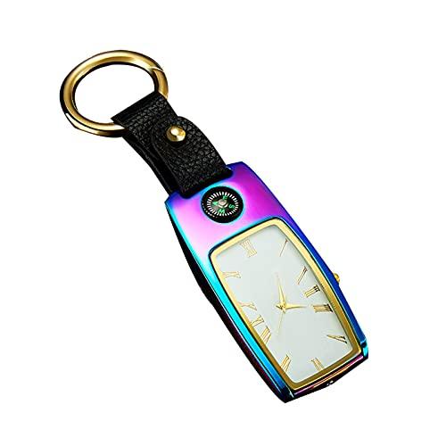 Montre gadget avec lampe torche et boussole 4 en 1 en métal rechargeable par USB