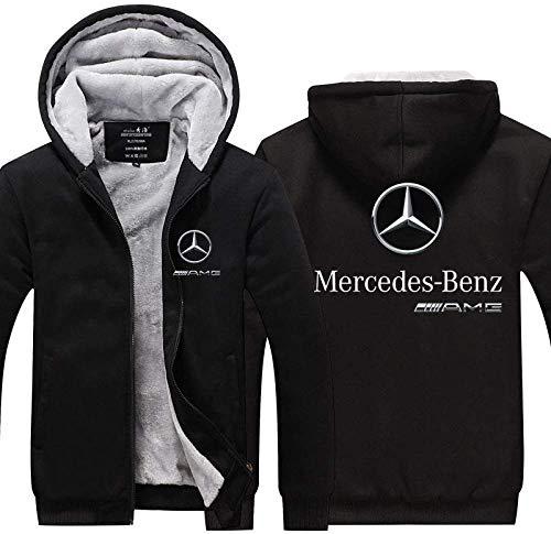 Verdicken Plus Samt Hoodie Mercedes-Benz A-M-G Drucken Strickjacke Männer&Frauen Warm Jacke Beiläufig Sweatshirt Lose