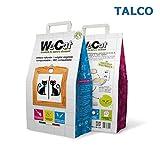 WE CAT - Lechera Natural Vegetal compostable para Gatos aglumados, higienizante Talco 3/6/8 Bolsas de 6 litros