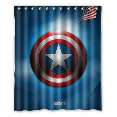 Dalliy Brauch us flagge. Wasserdicht Polyester Shower Curtain Duschvorhang 152cm x 183cm